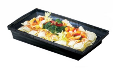 Bon Chef 53106 BLK 3-qt Square Bowl, Melamine/Black