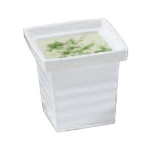 Bon Chef 53108 WH 1-qt 24-oz Square Bowl,  Melamine/White
