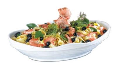 Bon Chef 53202 WH 6-qt Euro Bowl,  Melamine/White