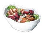 """Bon Chef 53205 WH 3-qt Euro Bowl, 4"""" Deep,  Melamine/White"""