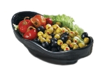 Bon Chef 53208 BLK 24-oz Euro Bowl,  Melamine/Black