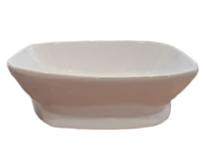 Bon Chef 53301 WH 6-qt Square Bowl,  Melamine/White