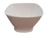 Bon Chef 53303 WH 2-qt Square Bowl,  Melamine/White
