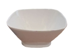Bon Chef 53304 IVO 3.75-Gallon Square Bowl,  Melamine/Ivory