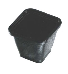 Bon Chef 53306 BLK 3-qt Square Bowl,  Melamine/Black