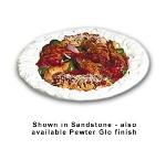Bon Chef 5501S BLK 5-qt Oval Pasta Bowl, Aluminum/Black