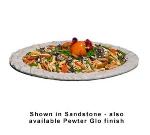 Bon Chef 5502S BLK 10-qt Oval Pasta Bowl, Aluminum/Black