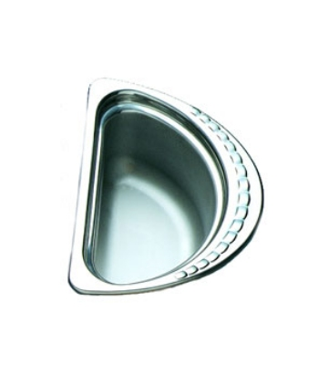 Bon Chef 5602 1/2-Oval Food Pan, 4.5-in Deep, Stainless