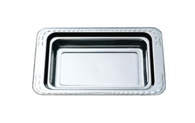 Bon Chef 5606HRSS 1-Gallon Food Pan w/ Round Stainless Handle, 2.25-in Deep,