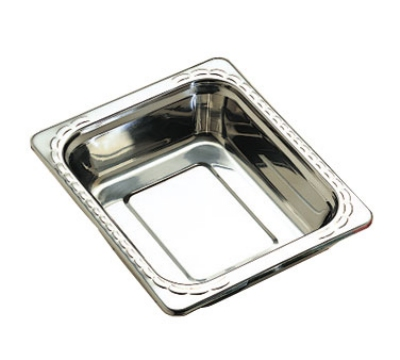 "Bon Chef 5609HRSS 1/2-Size Food Pan w/ Round Stainless, 2.75"" Deep,"