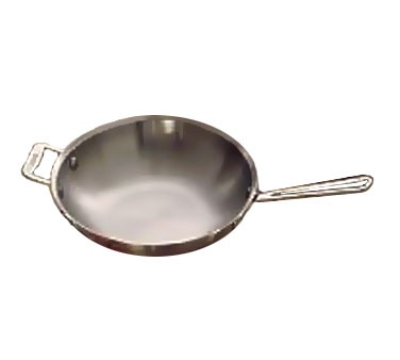 "Bon Chef 60005 10.37"" Stainless Stir Fry Pan - Induction Ready"