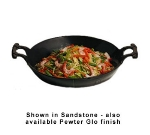 "Bon Chef 6051S BLK 8-qt Aluminum w/ Coating Stir Fry Pan - 16"" Diameter"