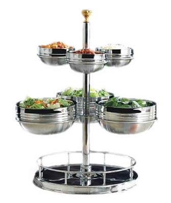 Bon Chef 61100 Revolving Condiment Holder, Stainless (Bowls Not Included)