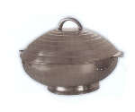 Bon Chef 61208 11.6-in Round Insulated Hotpot Server w/ Locking Lid, Stainless