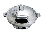 Bon Chef 61210 14.8-in Round Insulated Hotpot Server w/ Locking Lid, Stainless