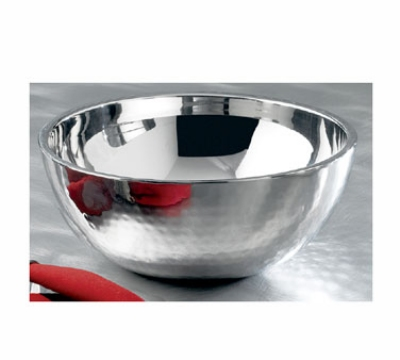 Bon Chef 61258 1.25-qt Double Wall Bowl, Stainless w/ Hammered Finish