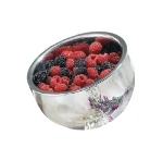 Bon Chef 61266 24-oz Double Wall Angled Bowl, Stainless Steel