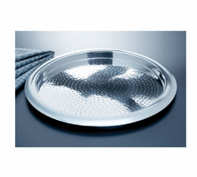 "Bon Chef 61278 15.5"" Round Tray, Stainless w/ Hammered Finish"