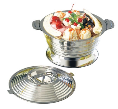 "Bon Chef 61280 11.25"" Ice Cream Sundae Server, Stainless Steel"