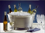 "Bon Chef 61283 21.1"" Round Double Wall Beverage Tub, Stainless"