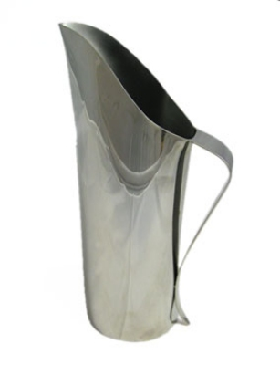 Bon Chef 61315 64-oz Single Wall Water Pitcher, Stainless Steel
