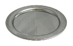 "Bon Chef 61330 13"" Round Tray w/ Bead Border, Stainless Steel"