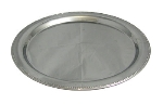 "Bon Chef 61333 20"" Round Tray with Bead Border, Stainless Steel"