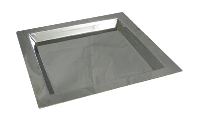 "Bon Chef 61362 Square Tray, 11 x 11"", Stainless"