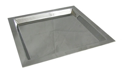 Bon Chef 61363 Square Tray, 13 x 13-in, Stainless