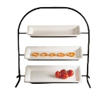 Bon Chef 7002S WH Wire Display Stand, Aluminum/White