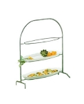 Bon Chef 7003S WH Wire Display Stand For 2025, Aluminum/White