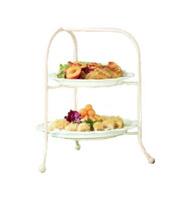 Bon Chef 7004S WH Display Stand, fits 2036, 2067, 9091 & 9092, Aluminum/White