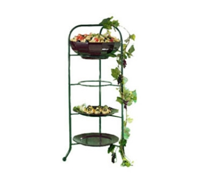 Bon Chef 7005S BLK Display Stand fits 2067, 9092 & 9097, Aluminum/Black