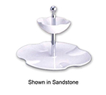 Bon Chef 7006S WH Platter, 2-Tier Set, Aluminum/White