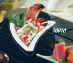"Bon Chef 70070S BLK 11"" Triangle Platter, Aluminum/Black"