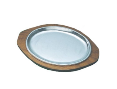 Bon Chef 82060 Wood Underliner for Sizzle Plate, 8.75 x 12.75""
