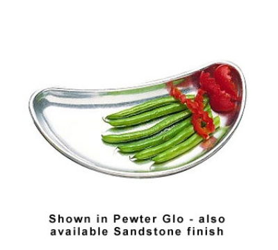 Bon Chef 9020P 4.5-oz Crescent Plate, Aluminum/Pewter-Glo
