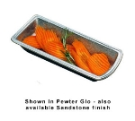 Bon Chef 9031P Celery & Olive Tray, 3-3/16 x 7-9/16-in, Aluminum/Pewter-Glo