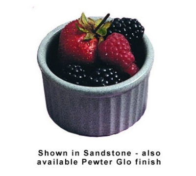 "Bon Chef 9038S WH 5-oz Fluted Ramekin, 3.5"" Deep, Aluminum/White"
