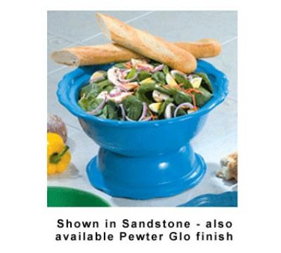 Bon Chef 90539062S WH 6.5-qt Pedestal Bowl, Aluminum/White