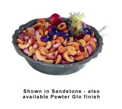 Bon Chef 9054S BLK 10-qt Salad Bowl, Aluminum/Black