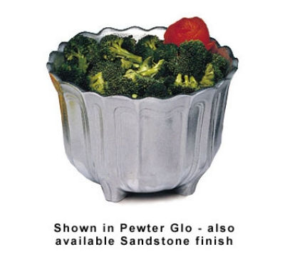 Bon Chef 9057S SMGR 3.5-qt Garnish Bowl, Aluminum/Smoke Gray