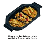 Bon Chef 9087S WH 1.5-qt Oblong Au Gratin Dish, 3-Compartment, Aluminum/White