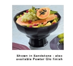 Bon Chef 90919113P 4-qt Prism Serving Bowl, Footed w/  Pedestal, Aluminum/Pewter-Glo