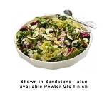 Bon Chef 9093P 12-qt Prism Serving Bowl, Footed, Aluminum/Pewter-Glo