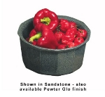 Bon Chef 9094S WH 3.5-qt Flat Bottom Crock Bowl, Aluminum/White