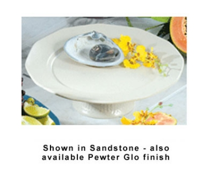"Bon Chef 90979059S WH 13"" Prism Pedestal Underliner Plate, Aluminum/White"