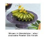 "Bon Chef 90979113P 13"" Prism Underliner Plate w/ Pedestal, Aluminum/Pewter-Glo"