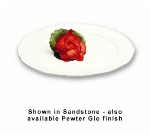 "Bon Chef 9098P 15"" Round Prism Tray, Aluminum/Pewter-Glo"