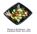 Bon Chef 9110P 12-oz Square Salad Bowl, Aluminum/Pewter-Glo